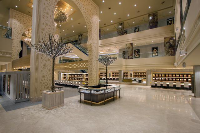 Jewellery Showroom Front Elevation : Mukt jewellers by dipen gada associates baroda
