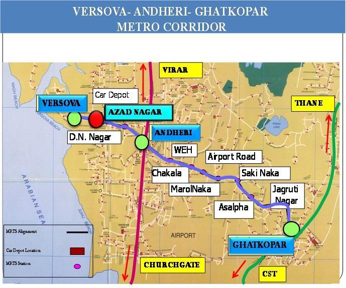 Mumbai Subway Map.Mumbai Metro Line 2b To Be Elevated Or Underground