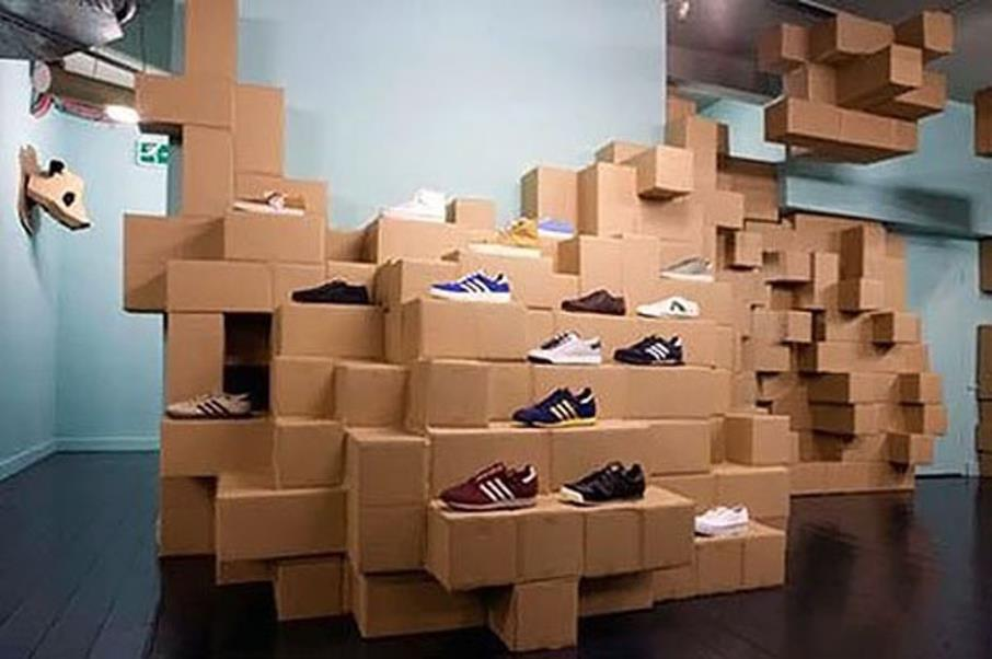 Snazzy shoe store display designs 15 quick picks for Design in a box interior design