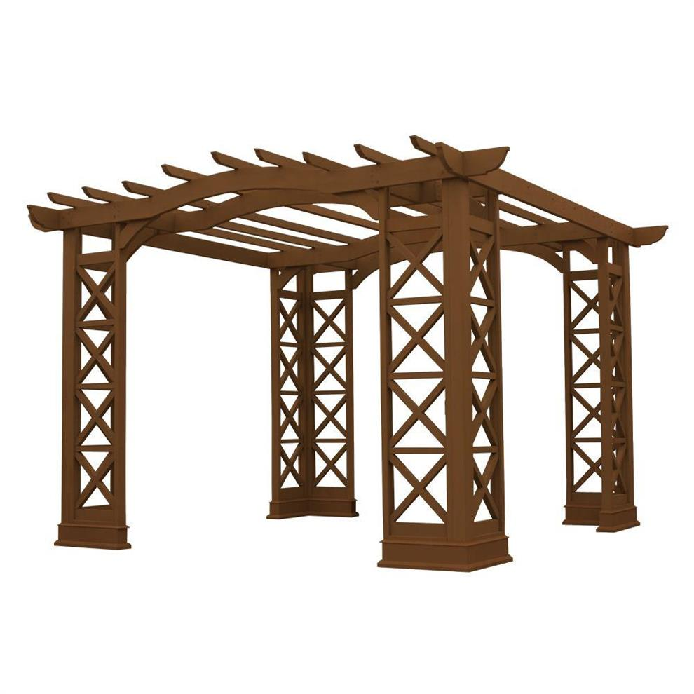 Pergola Design India: Arched Roof Cedar Pergola- Buy Arched Roof Cedar Pergola
