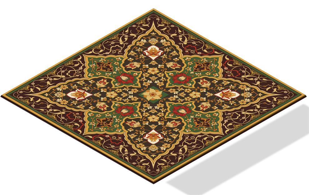 Floor Tiles Floral Rug Buy Floor Tiles Floral Rug Online In