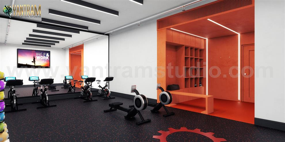 Commercial Fitness Gym 3d Interior Designers Ideas By Architectural Rendering Companies Bern Uk Commercial Fitness Gym 3d Interior Designers Ideas By Architectural Rendering Co By Yantram Architectural Animation