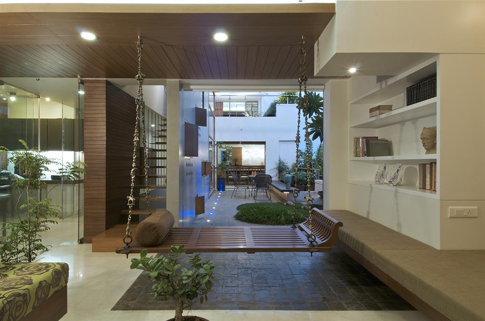 Shilpa Gore Shah Pinkish Shah Triplex N Living Room