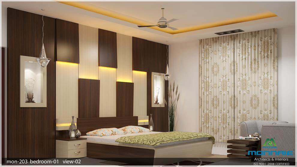Monnaie Architects And InteriorsResidential Project Of Mr KK Custom Bedroom Interiors