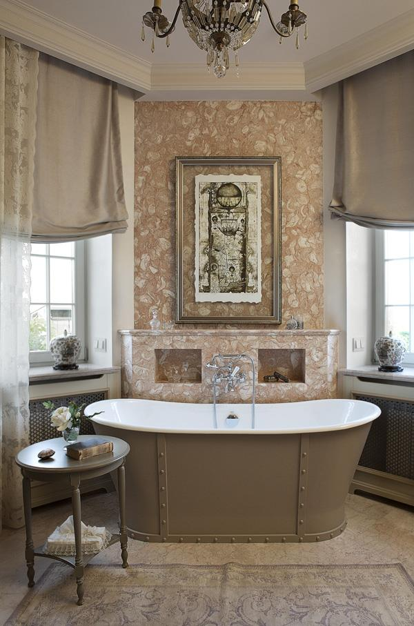 Reconstruction Of Cottage House Elegy Taste Of France Bathroom By Alexandrine