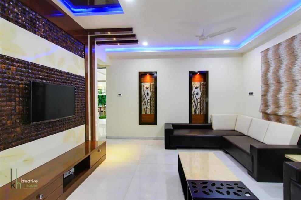 A subtle blend of material and finishes a sky villa in banjara hillshyderabad drawing area by pavan