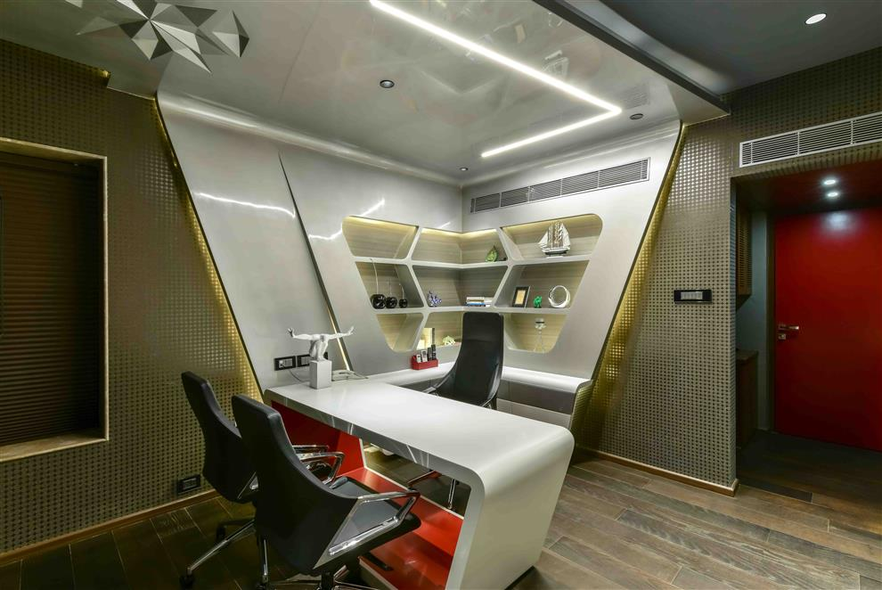Office For Yogiraj Executive Cabin By Bhavya