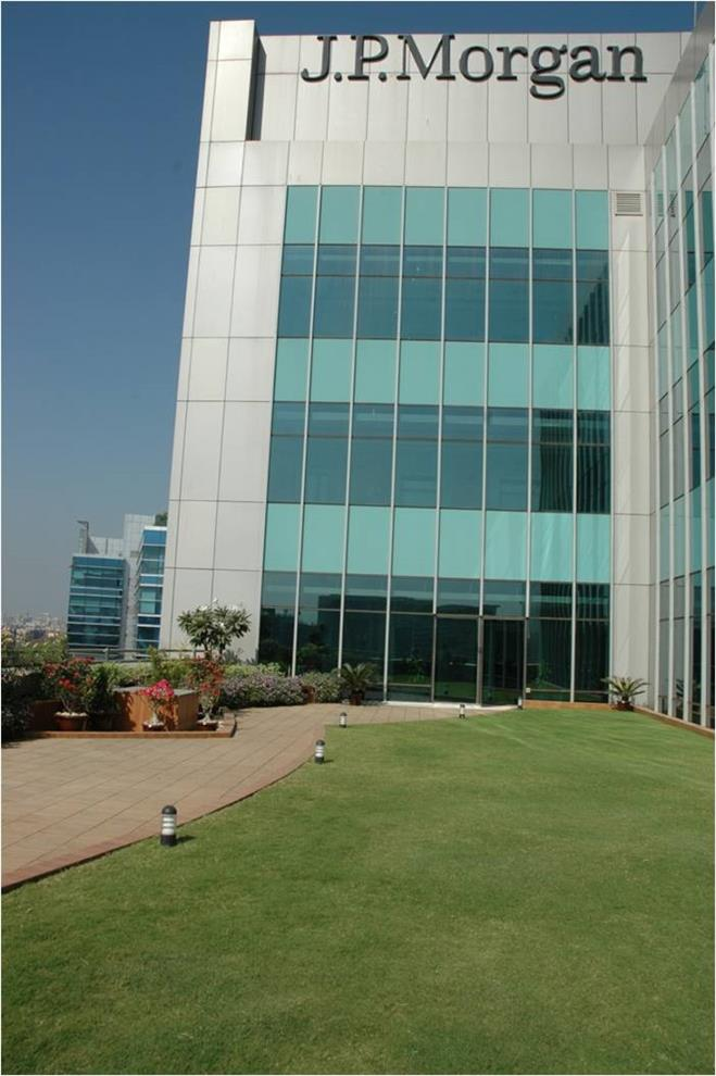 Suvarna Sathe J P Morgan Office In Mumbai Terrace Garden