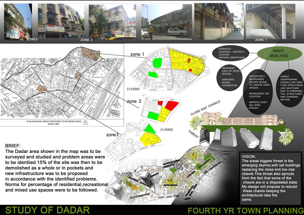 Study of dadar fourth year urban planning concept by for Architectural design problems