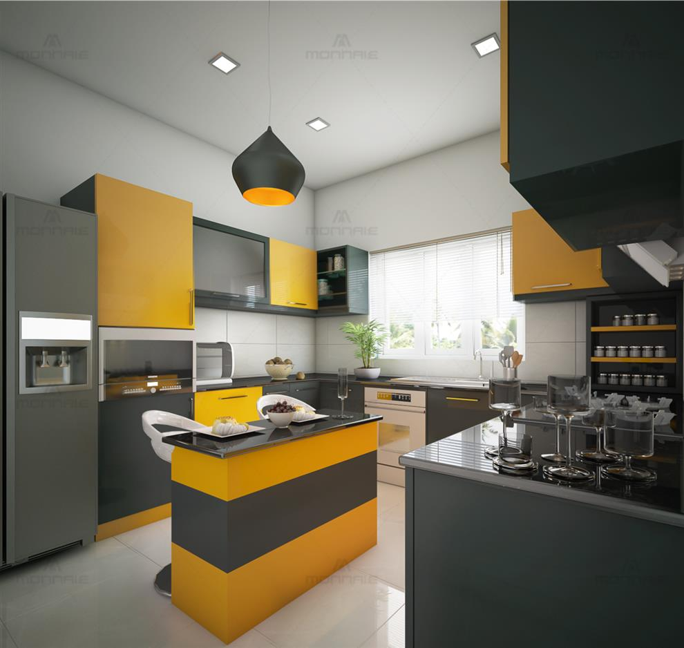 Best Kitchen Designs In Keralamonnaie Architects Interiors Residential Single Family Dwelling Kitchen Interior Design Monnaie Architects Interiors By Monnaie Architects