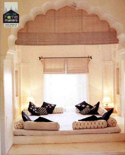 Home Makers Latest...   Rajasthani Style Living Area By Home Makers Interior  Designers
