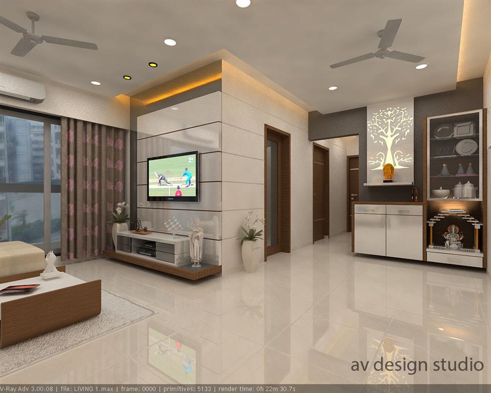 Mr nilesh darji residence living room by arvind for Living room kandivali east