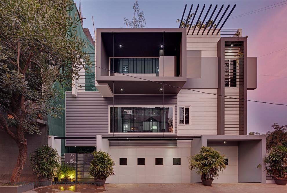 A A Isiri The Attractive 60x40 Modern House For Best Modern Villa