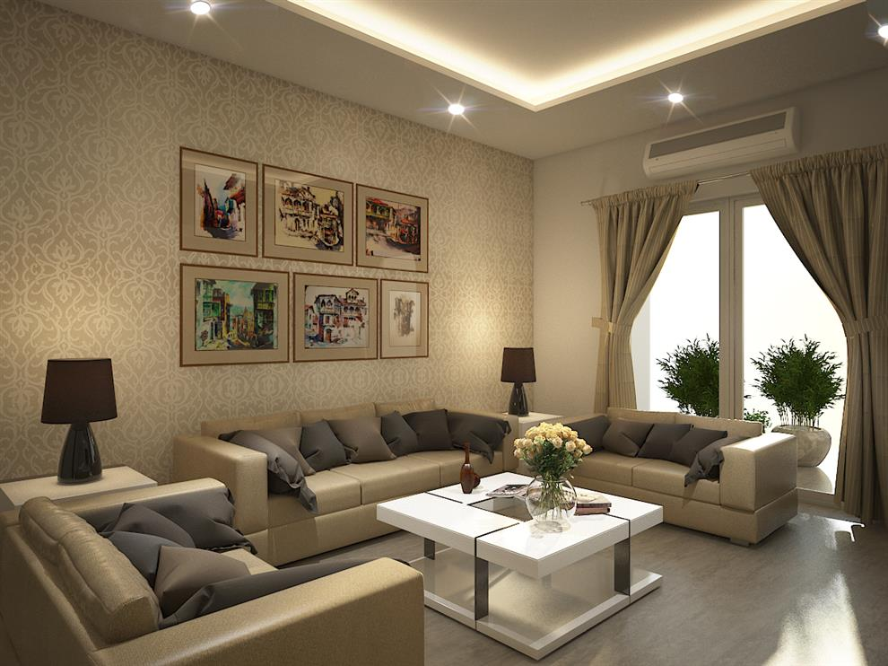 Rahul Mehta Home Interiors Furniture   Living Room   Gulshan Vivante Noida