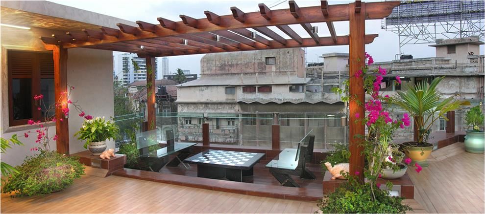 Suvarna sathe terrace garden pergola mumbai for Indian terrace garden designs
