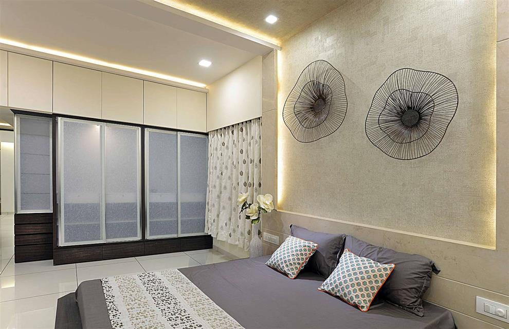 Wall Decor In Vadodara : Sample flat at vadodara bedroom kitchen