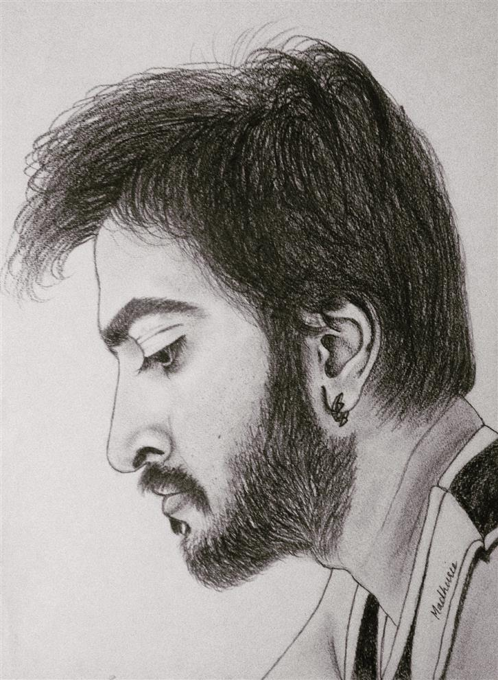 Madhurie pandit sketches pencil graphite and charcoal best friend
