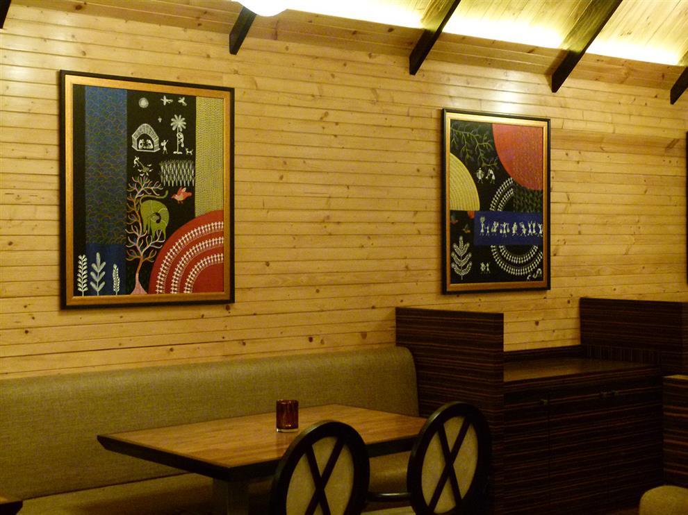 Destination resort restaurant mural by shibani for Mural restaurant