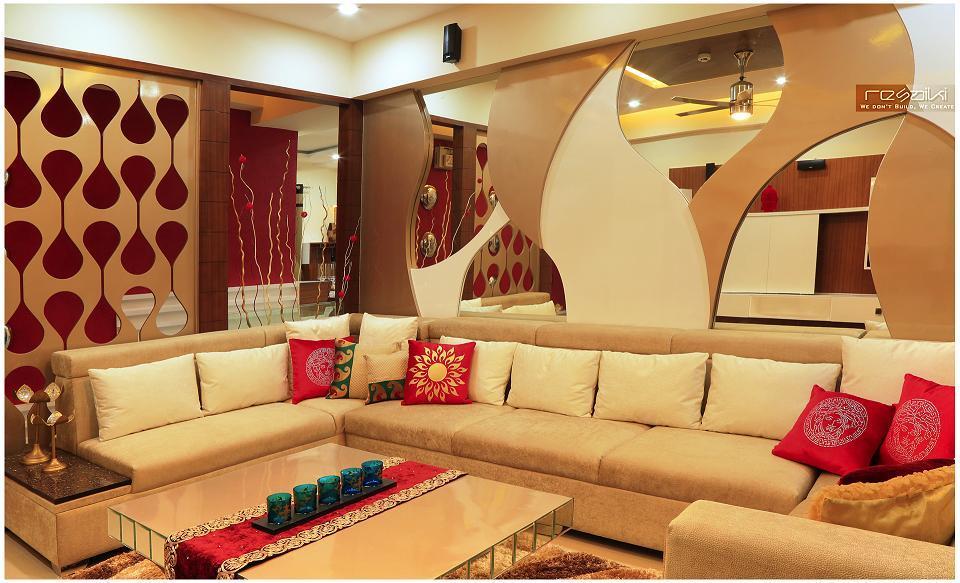 Nikhil Aggarwal Resaiki Interiors - Drawing Room - DELHI NCR