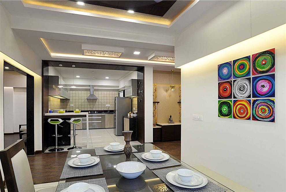 Sample Flat At Vadodara Bedroom Kitchen Dining Room View Of Kichen By Chirag