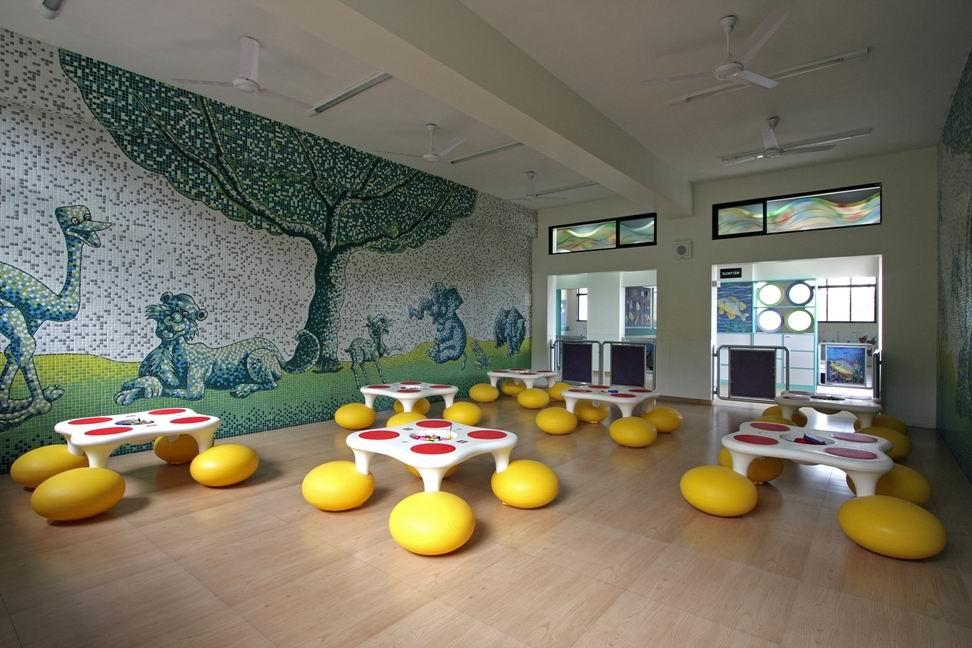 Lakshyadham school lego room by milind for Play school interiors pictures