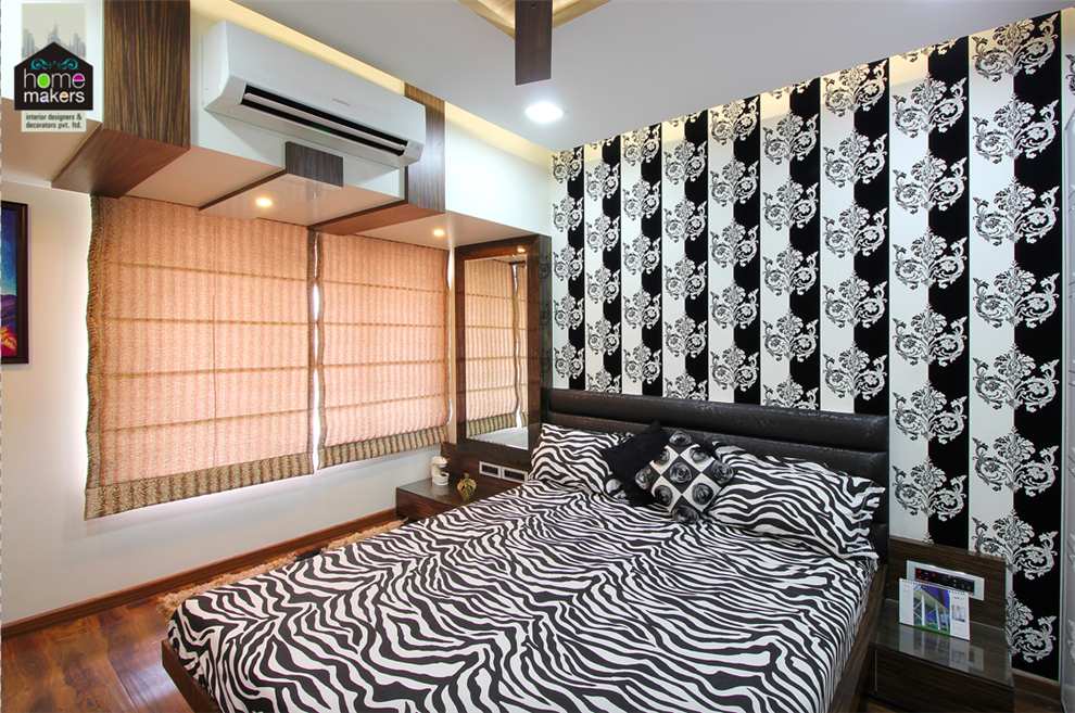 evershine cosmic guest bedroom by home makers interior designers