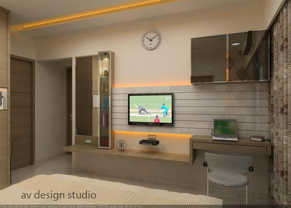 Mr nilesh darji residence bed room by arvind for Living room kandivali east