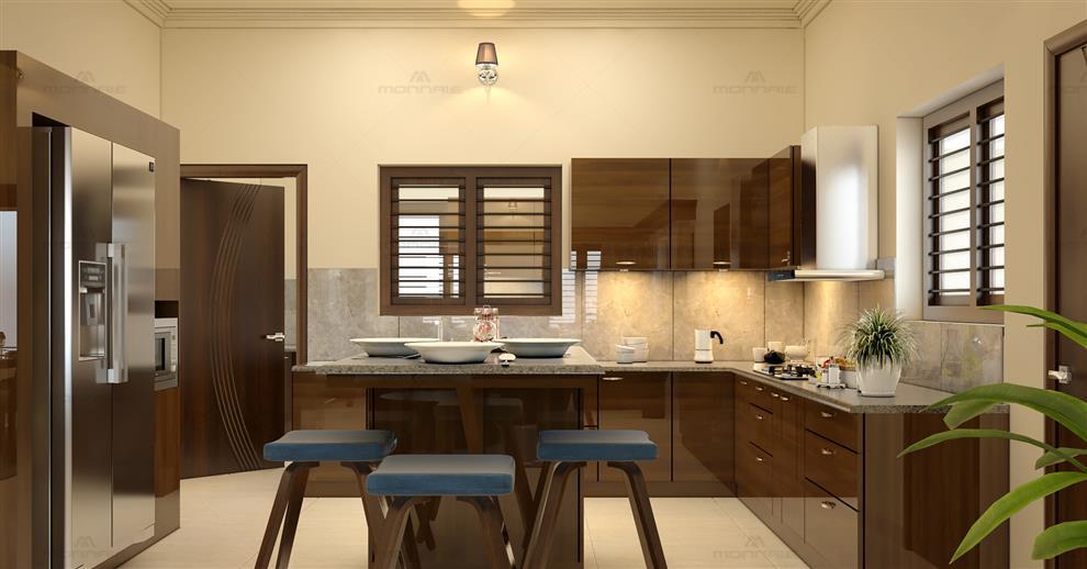 Best Architects Interior Designers In Kochi Kerala Kitchen Designs By Monnaie Architects