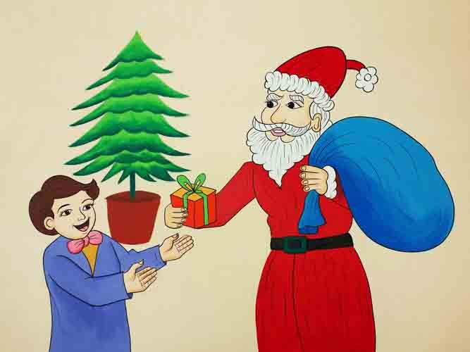 Christmas Festival Cartoon Images.Festival Cartoons Christmas By S N Chauhan Mob 91