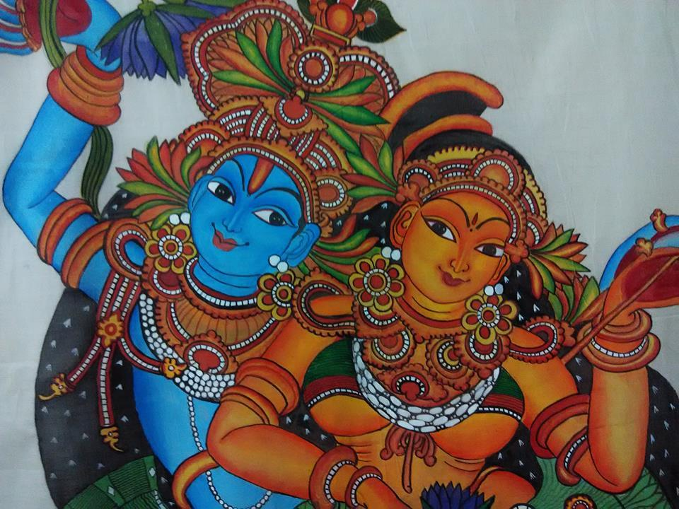 Fabric artists in india list best top famous fabric for Aithihya mural painting fabrics