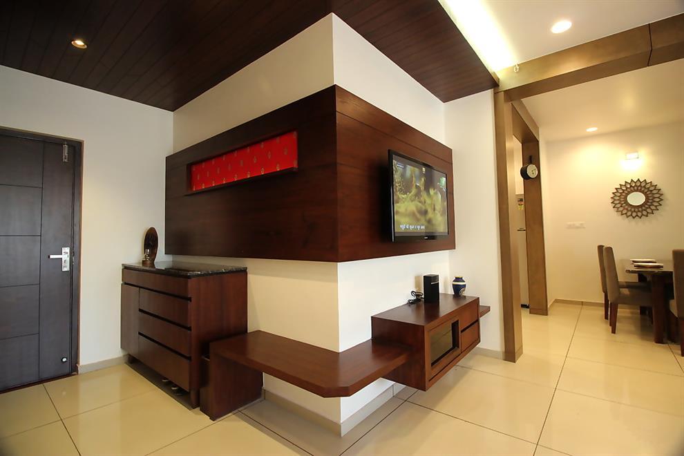 Atmann And Helees Flat Foyer N Tv Unit By Rajnysh