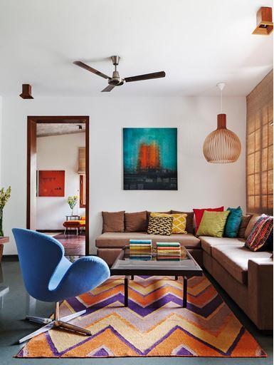 Living Livelier Circus Trees: Living Room Design-Living Room By Kajal