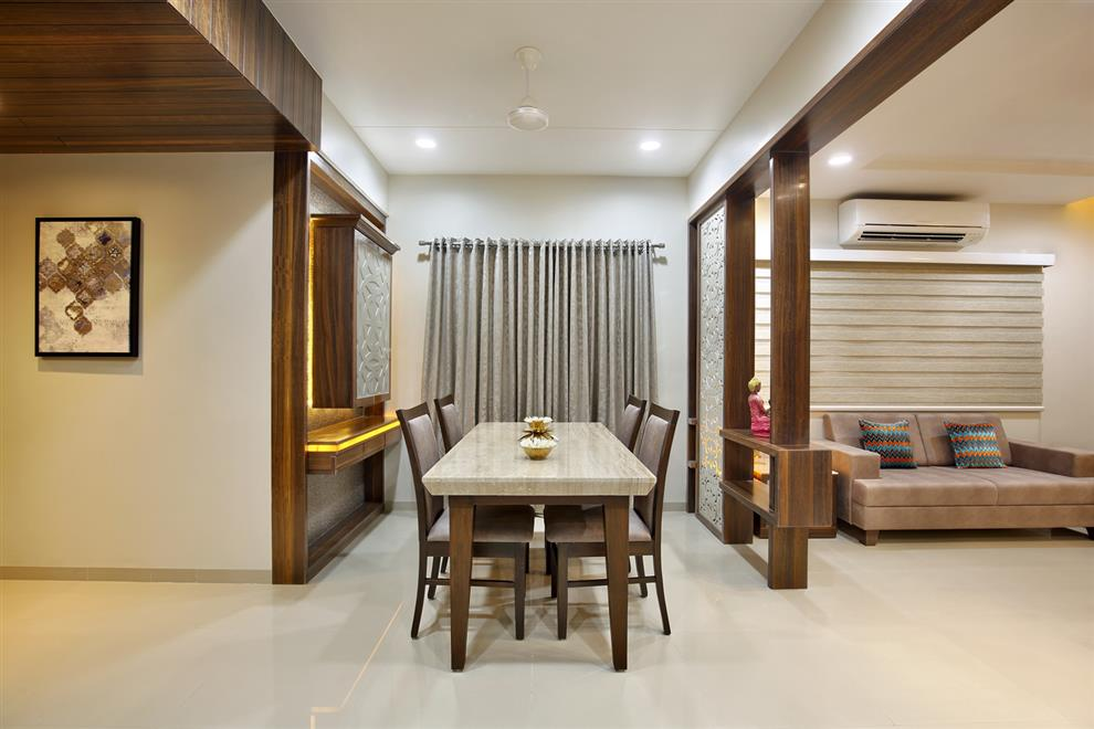 Rajnysh rami vadodara gujarat india for Dining room false ceiling designs