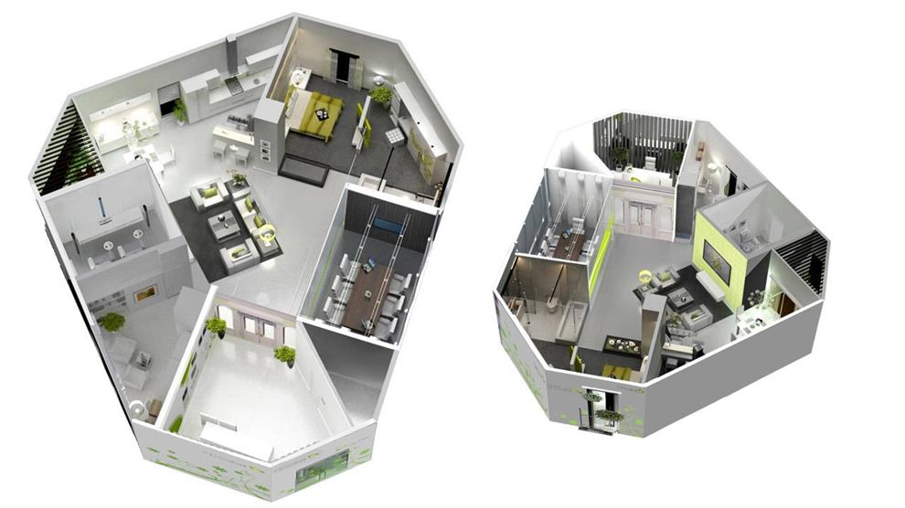 Prashant Chauhan Etisalat Smart Home 3D layout for the sample