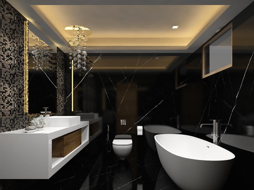 De Panache Mantri Espana Apartment Interiors Bathroom Bangalore