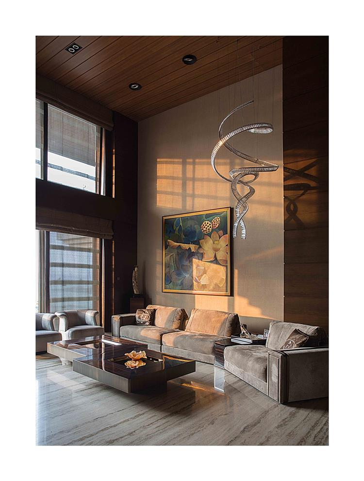 Interior Design For Living Room In India: Double Height Living Room