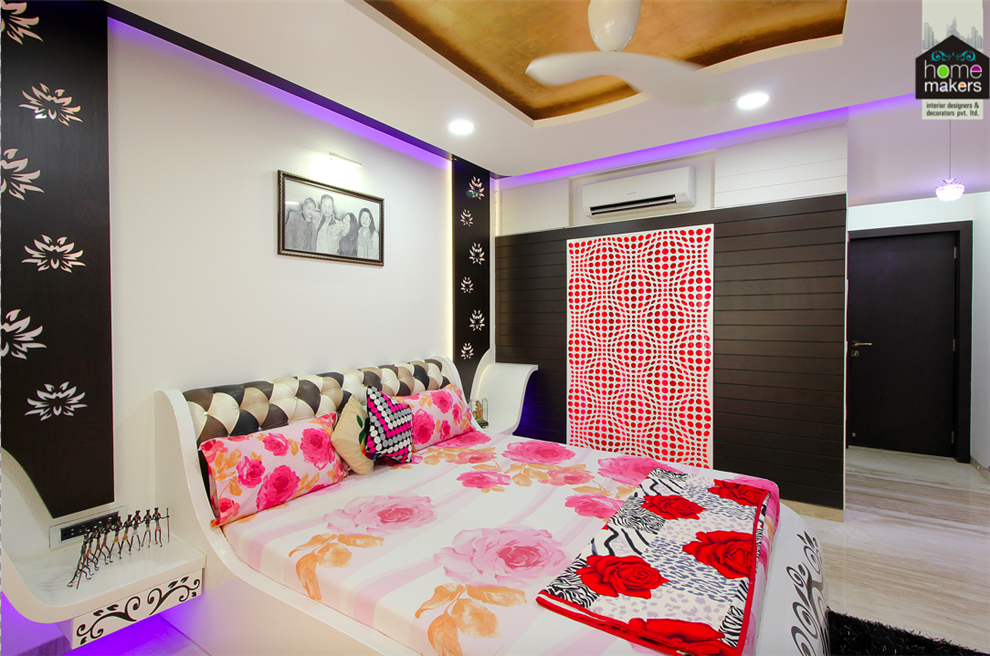 evershine cosmic 2 master bedroom 3 by home makers interior designers
