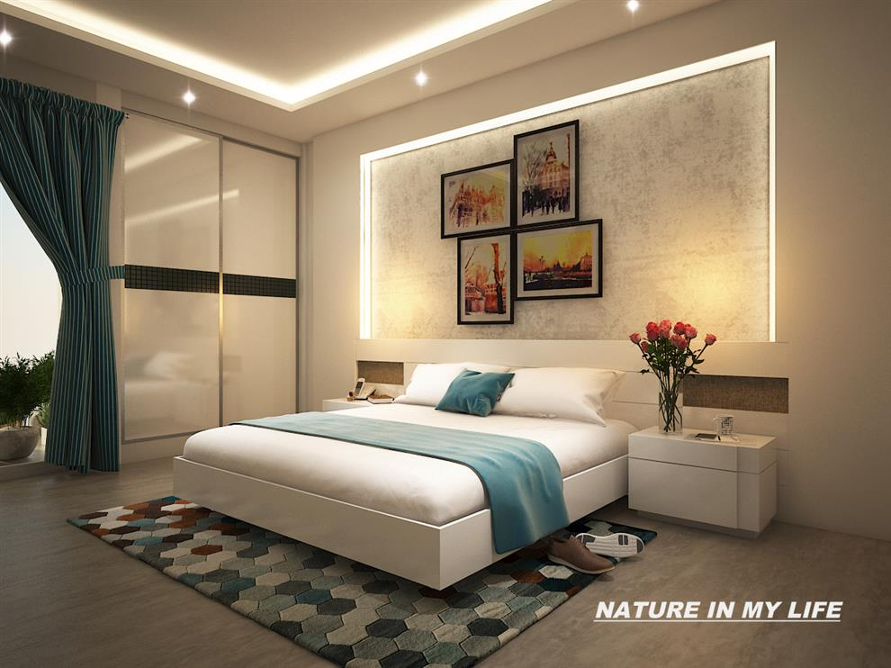 Home Interiors Furniture Bed Gulshan Vivante Noida By Rahul Mehta