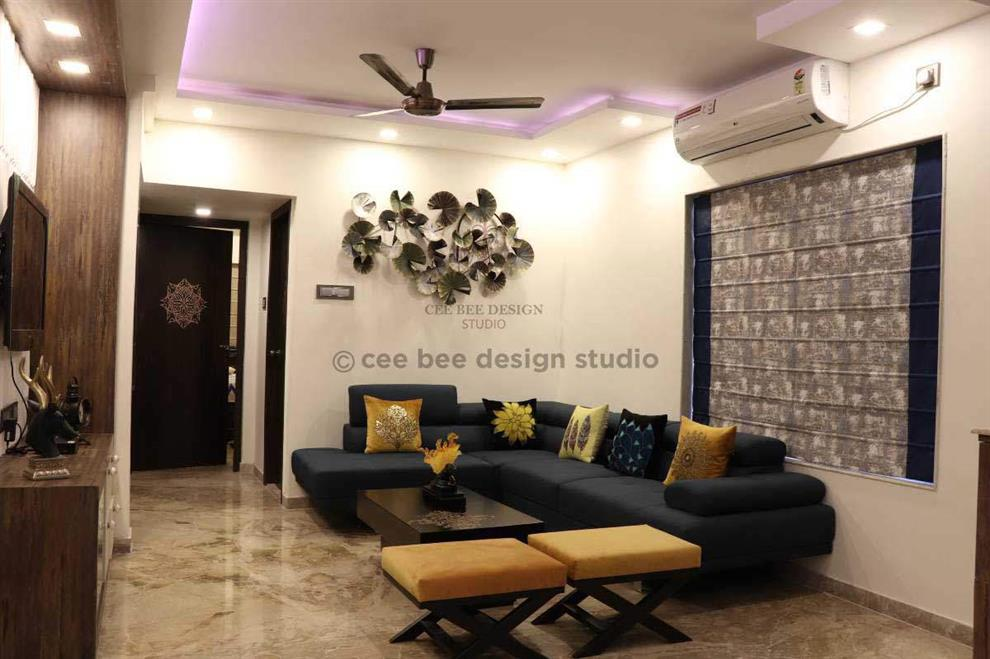 Ceebee Design Studio 3bhk Duplex Interior Design Kolkata Beautiful Modern Home Mita Das Living Room Interior Kolkata